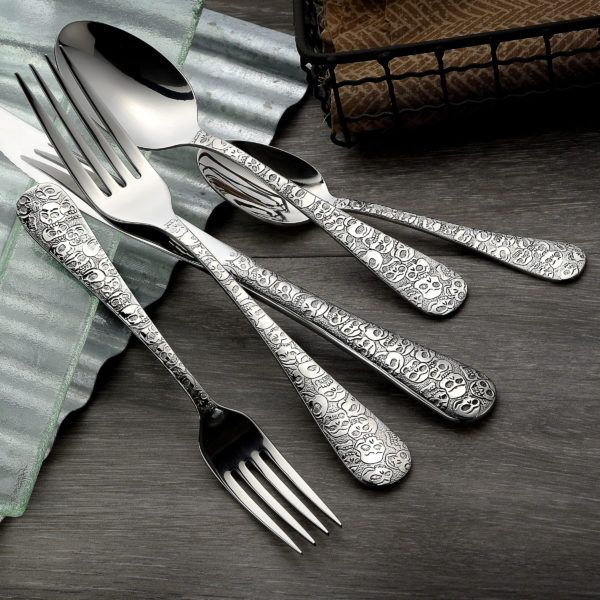 Calavera (Skull) - 45 Piece Set Flatware American-Made