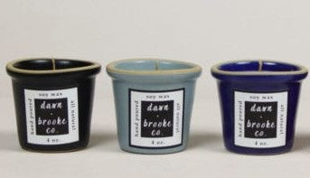 Trio Brookline Candle Set (Black/Grey/Blue) by Emerson Creek Pottery Made in USA
