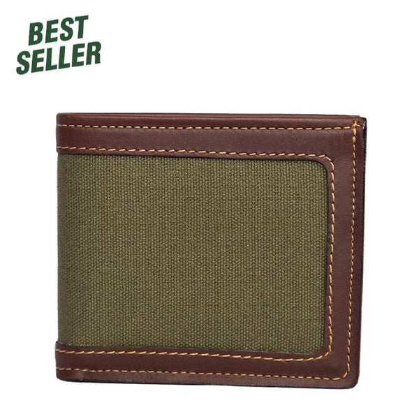 Canvas Bi-Fold Wallet Made in USA by Duluth Pack HEN-0021-OD