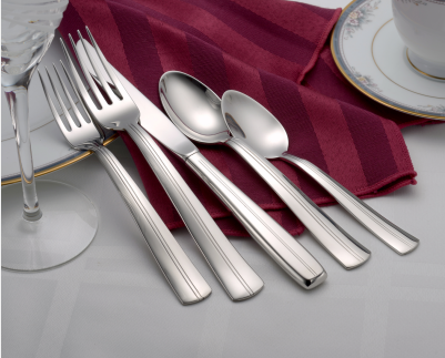 Cedarcrest Flatware Stainless Steel Made in USA 65pc Set