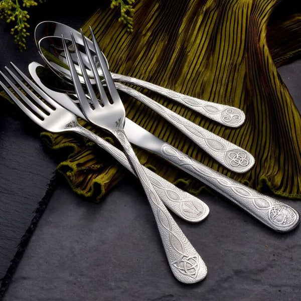 Celtic Stainless Flatware 45 Piece Set Made in USA