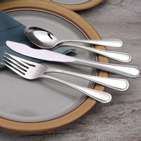 Classic Rim Stainless Flatware 20 Piece Set Made in USA