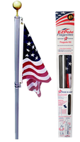Defender EZPOLE® Flag Pole with 3x5 Sewn Nylon Flag USA Made by EZPole
