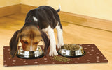 Paw Print Large Dog Bowl Placemat by Drymate (Set of 2) Made in USA