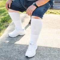 3-Packs Extra Wide Medical Tube Socks Made in USA