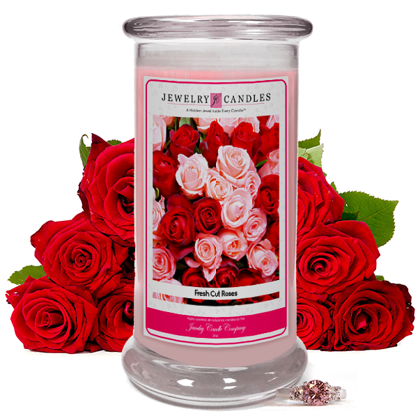 Fresh Cut Roses Jewelry Candle Made in USA