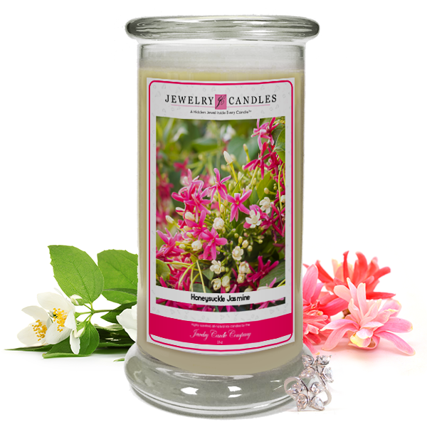Honeysuckle Jasmine Jewelry Candle Made in USA