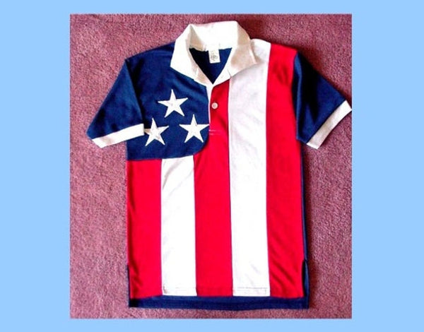 Unisex American Flag Golf Shirt by Stately Made in USA flaggolfshirt