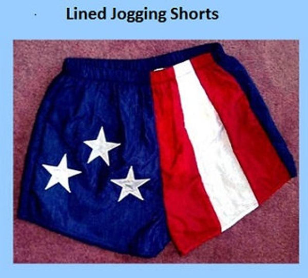 Uisex American Flag Adult Lined Jogging Shorts by Stately Made in USA flagjoggingshorts