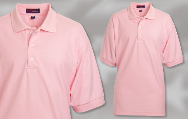 New J766 Carnation 100% Cotton Polo Shirt Made in USA by King Louie