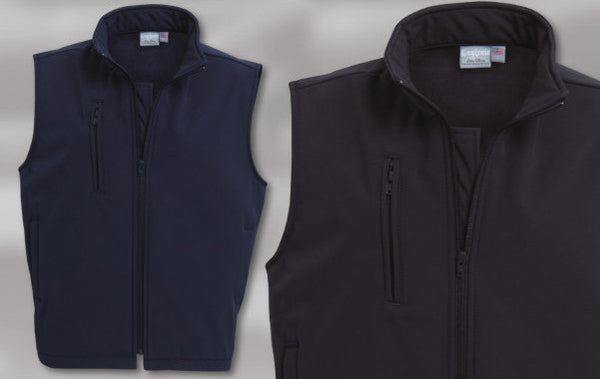 LADIES' SOFT SHELL BONDED FLEECE VEST L3800