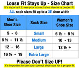 6-Pack Loose Fit Stays Up Medical Crew Socks Made in USA by Extra Wide