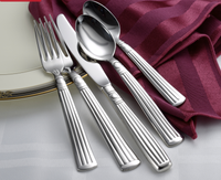 Lincoln Flatware Stainless Steel Made in USA 45pc Set