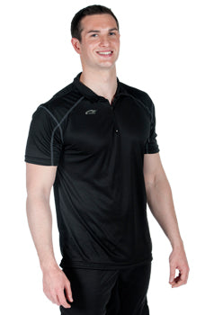 Microtech™ Loose Fit 1/4 Zip Polo Shirt USA Made by WSI Sports 757SOLO