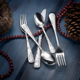 New Christmas Season Stainless Flatware 65 Piece Set Made in USA