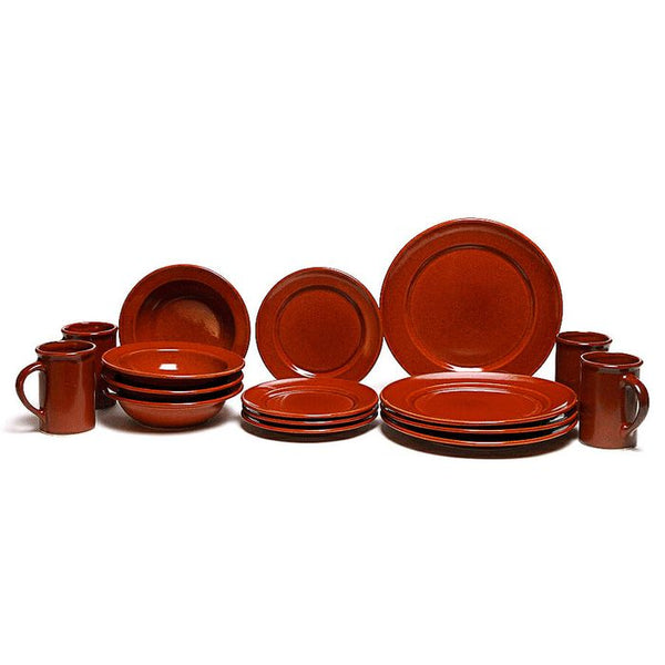 Copper Clay Classic Dinner Plate Set for Four Made in USA
