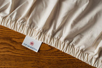 Organic Cotton Bed Sheets Set Grown & Sewn in USA by American Blossom Linens