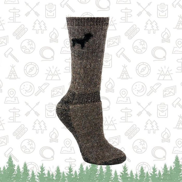 Outdoorsman Alpaca Crew Sock 2-Pack Made in USA