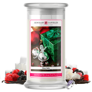 Silver Bells Jewelry Candle Made in USA