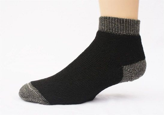 """SlipperBootie"" Alpaca Quarter Socks 3-Pack Made in USA"