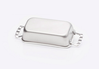 Stainless Steel Loaf Pan Made in USA by 360 Cookware
