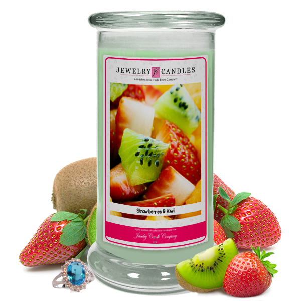 Strawberries & Kiwi Jewelry Candle Made in USA