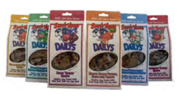 NEW! Variety 6-Pack Sam's Yams Dailys Dog Treat Made in USA Dog Food