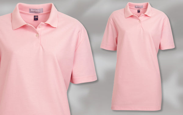 W766 Women's Carnation 100% Cotton Polo Shirt Made in USA by King Louie