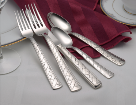 Weave Flatware Stainless Steel Made in USA 45pc Set