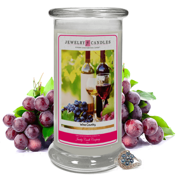 Wine Country Jewelry Candle Made in USA