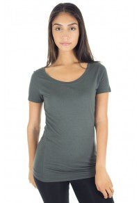 2-Pack Women's Bamboo Organic Scoop Neck by Royal Apparel Made in USA 73112