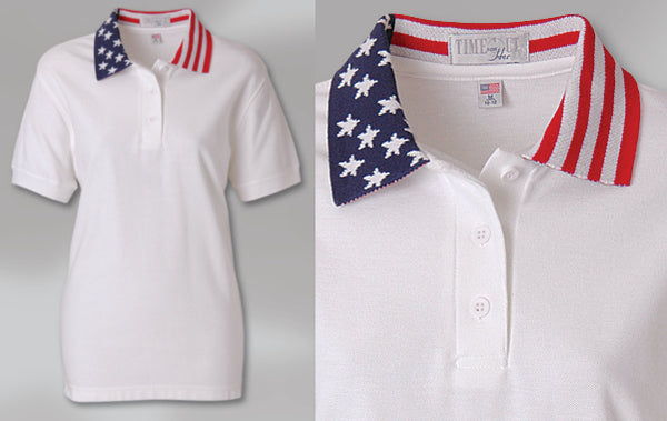Lady Freedom Patriotic Sport Shirt by King Louie Made in USA WUSA03