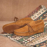 Women's Suede Ankle Moccasin American-Made by Footskin 1230