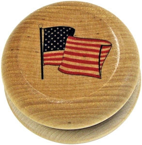 American Flag Yo-Yo Made in USA by Maple Landmark
