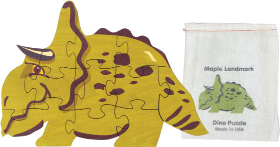 Dinosaur Shaped Jigsaw Puzzle by Maple Landmark USA Made