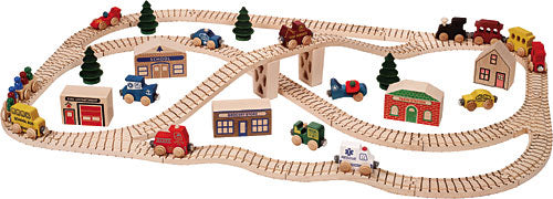 Awesome Town Train Set! Buy the whole town! Made in USA.