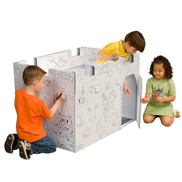MyVeryOwnHouse® Castle Cardboard Playhouse USA Made MC4428Rc