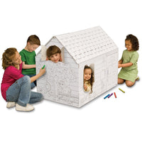 MyVeryOwnHouse® Hide & Seek Cardboard Playhouse Made in USA MH4428Rc