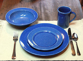 American Blue Dinner Set Made in USA by Emerson Creek Pottery