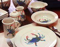 Blue Crab Dinner Set Made in USA by Emerson Creek Pottery