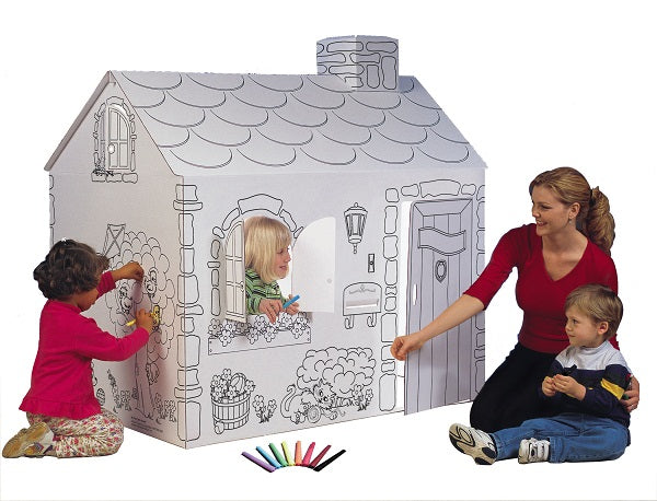MyVeryOwnHouse® Cottage Cardboard Playhouse USA Made MH5536Rc