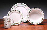 Cranberry Dinner Set Made in USA by Emerson Pottery