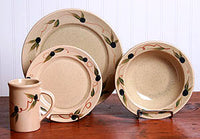 Tuscan Olive Dinner Set Made in US by Emerson Creek Pottery