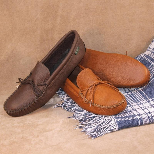Men's Softsole Moccasins American-Made by Footskins 4400 (deertan) 1400 (cowhide)