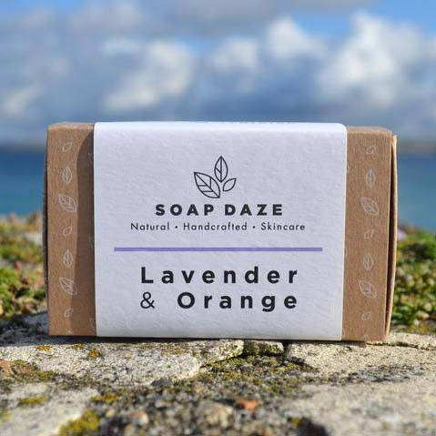 Lavender and Orange Handmade Natural Vegan Soap Bar