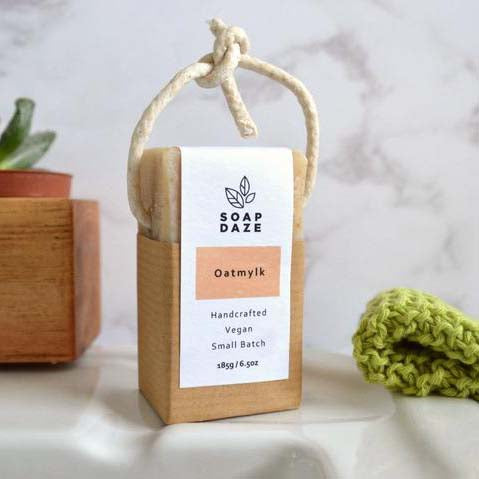 Oatmylk Soap on a Rope, Extra Large Vegan Soap