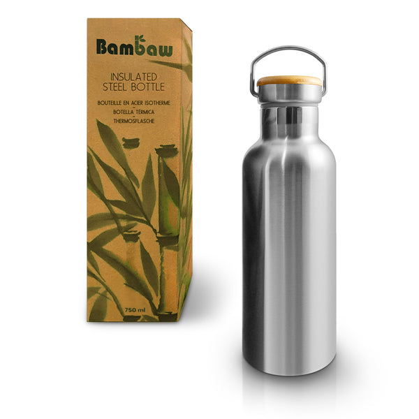 Insulated thermal stainless steal reusable bottle 750ml