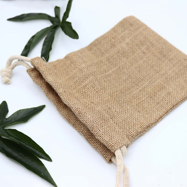 Natural Jute Drawstring Pouch