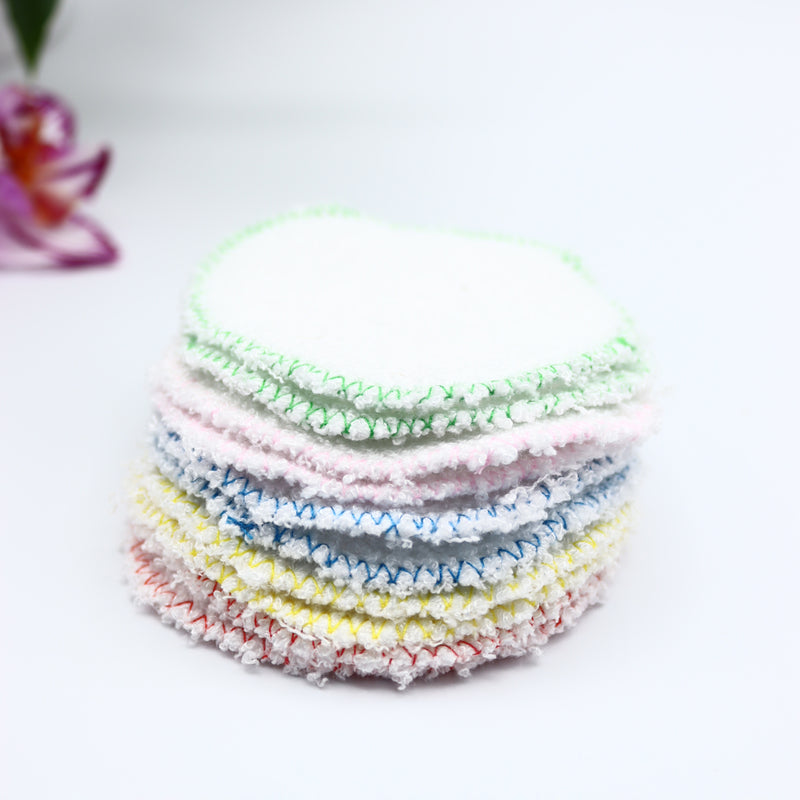 Bamboo Reusable Face Make Up Remover Pads With Wash Bag