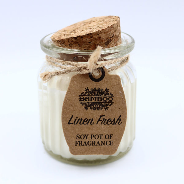 Linen Fresh Pot Soybean Candle
